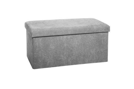 Poef 38x76cm grijs