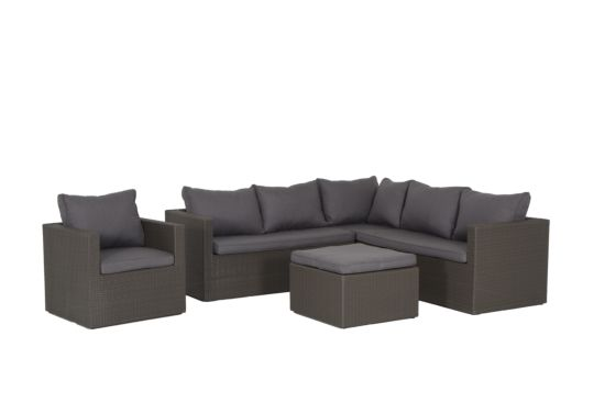 Loungeset Serengeti wicker coffee
