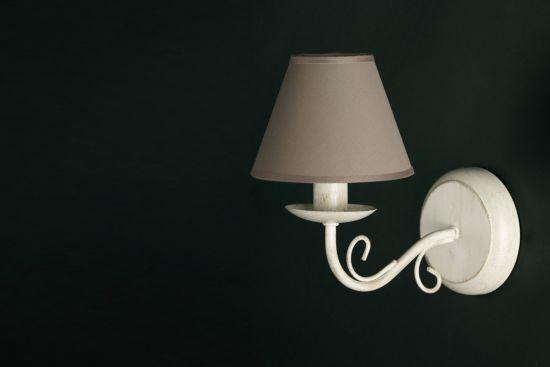Wandlamp avorio+grijs E27