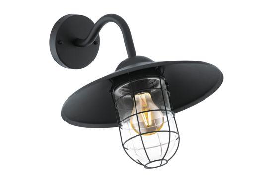 Wandlamp Melgoa zwart  60W E27