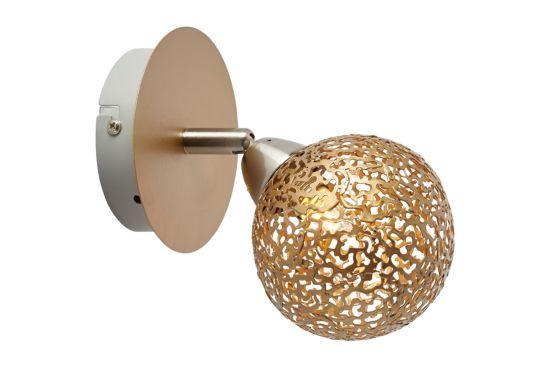 Wandlamp Chane goud 40W G9