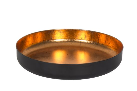 Schaal Obsidian brons Ø45cm