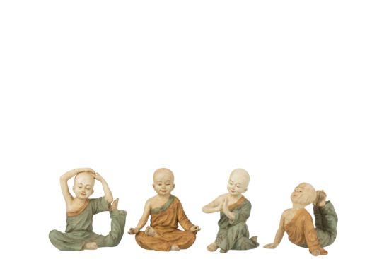Beeldje Monnik Yoga H14cm