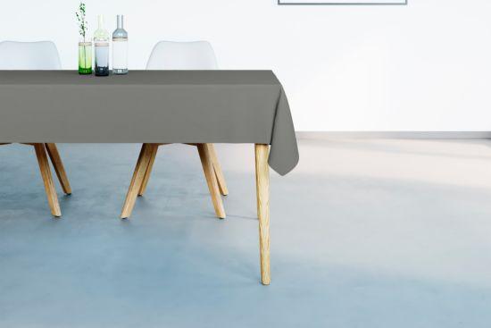Tafellaken Uniline 160x275cm stone grey