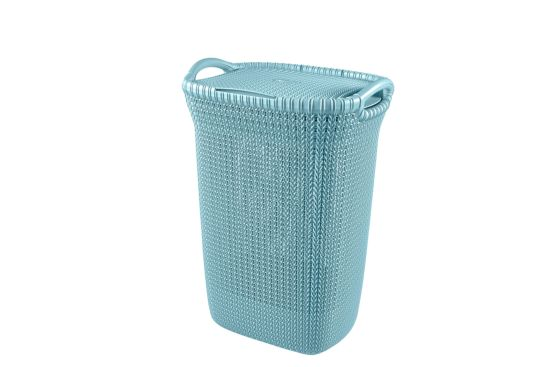 Linnenmand Knit 45x34,5x62cm blauw