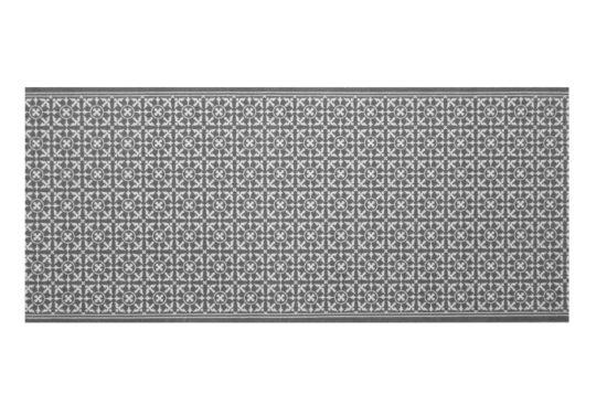 Tapijt Deco star - Tegeltjes 65x180cm laagpolig