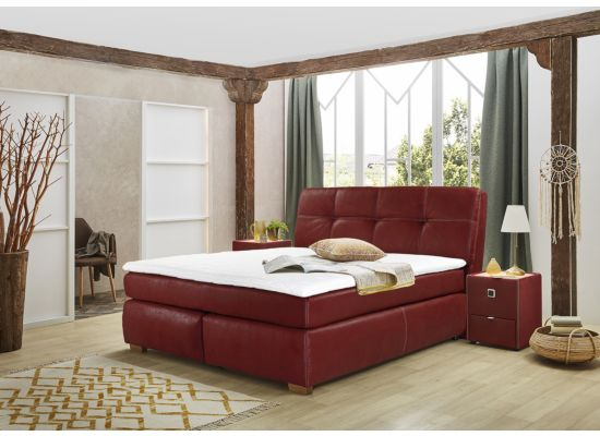 Boxspring Cleo  160x200cm stof rood