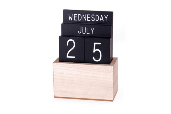 Deco Wooden perpetual calendar H18cm