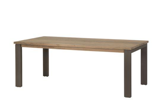 Tafel Sebastiani hout massief 200x100cm