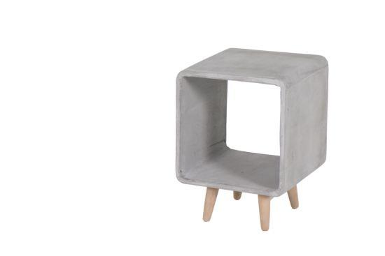 Bijzettafel Marsh 33x33cm glasvezel/beton