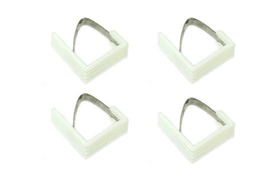 Tafelklem wit, set van 4