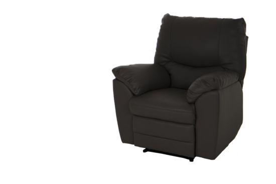 Zetel Moveo met relax 1-zit lederlook zwart