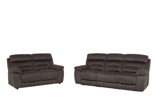 Zetel Ave 3+2-zit stof grijs met relax