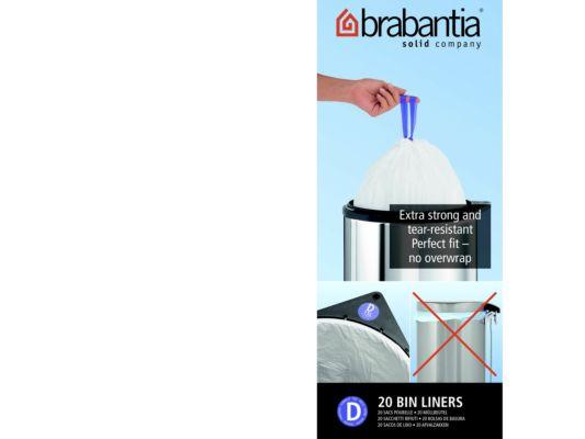Afvalzak Brabantia 15L maat D 25 stuks