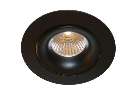 Inbouwspot zwart richtbaar 50W GU10