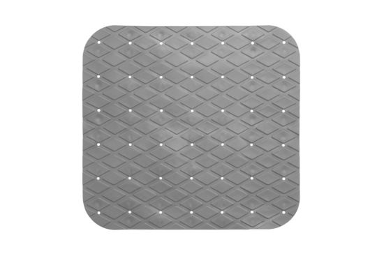 Antislip douchemat 55x55cm grijs
