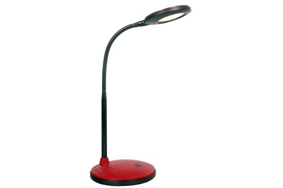 Bureaulamp zwart rood LED