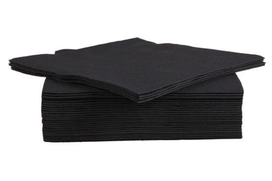 Servet CT Prof 38x38cm zwart, 40 stuks