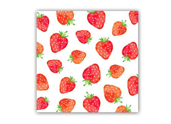 Servet Strawberries 33x33cm rood 20 stuks
