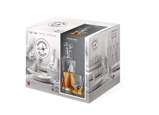 Whiskey set Cassiopea 1,3L/33cl set van 7