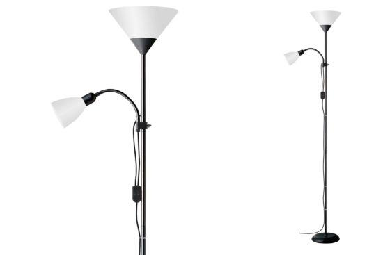 Staande lamp met leeslamp Spari H180cm
