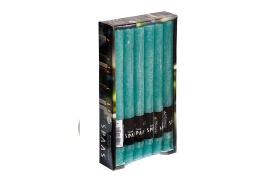 Kaars 10u smaragdgroen, per stuk