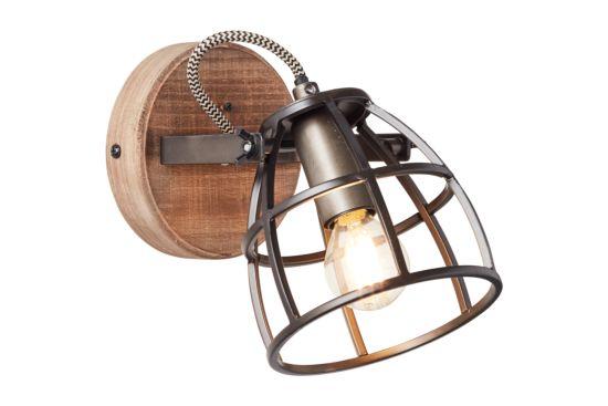 Wandlamp Matrix zwart bruin 28W E27