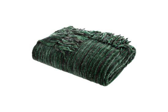 Plaid Chenille 130x180cm groen