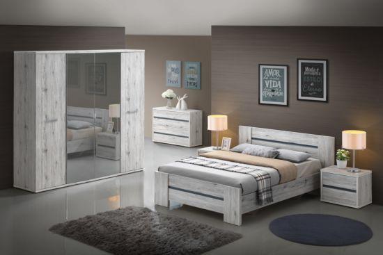 Slaapkamer Evi met bed 160x200cm - met kleerkast 220cm