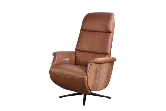 Relaxzetel Saddle elektrisch (x2) lederlook cognac