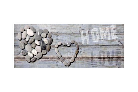 Print op canvas Home Love 40x100cm