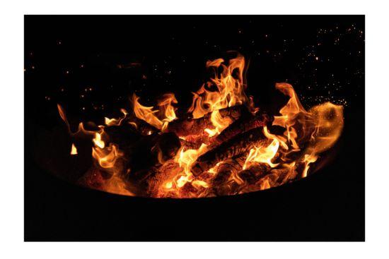 Foto op canvas Open Fire 100x150cm