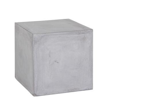 Bijzettafel Babel 40x40cm glasvezel/beton