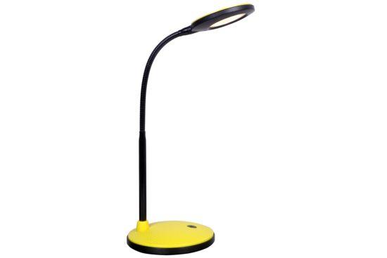 Bureaulamp zwart geel LED