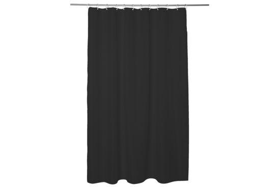 Douchegordijn Modern 180x200cm zwart