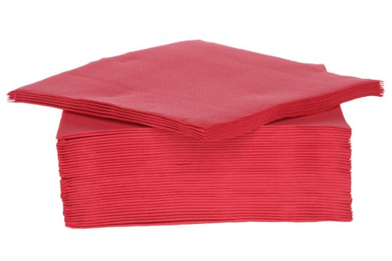 Servet CT Prof 38x38cm rood, 40 stuks