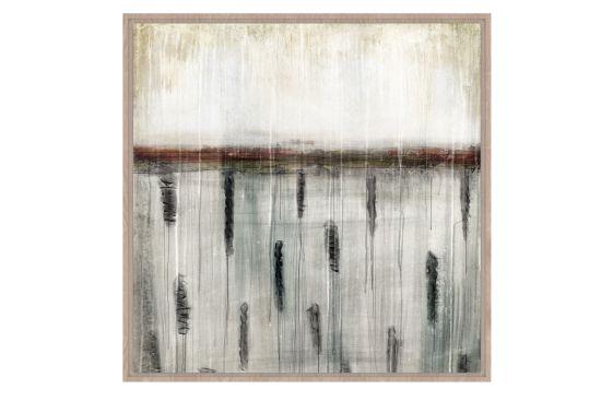 Print op canvas Omaha Beach 104x104cm