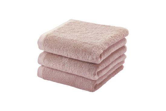 Handdoek London 55x100cm dusty pink