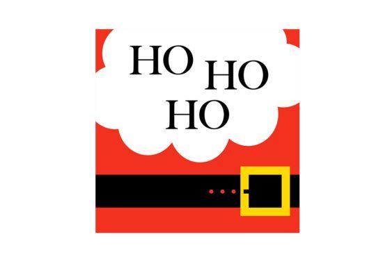 Servet Santa's Belly 33x33cm multicolor 20 stuks