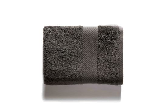 Gastendoekje Royal Touch 30x30cm grey charcoal