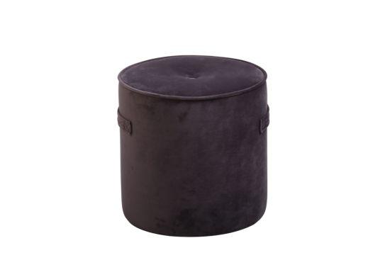 Poef Alpha Ø38cm stof grijs