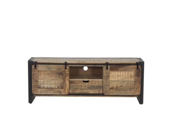 Industrieel tv-meubel Woodstock mangohout 160cm