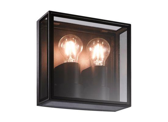 Wandlamp zwart 2x15W E27