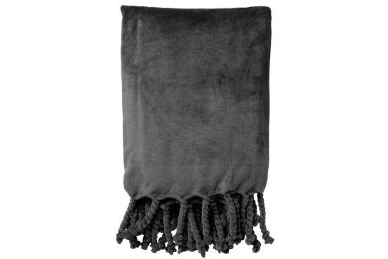 Plaid Florijn 150x200cm polyester grijs