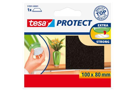 Beschermviltjes tesa 10x8cm bruin