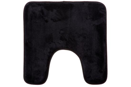 Wc-mat Memoire 48x48cm zwart