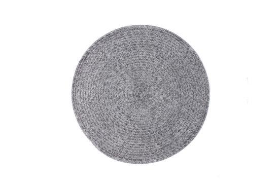 Placemat Melange Ø38cm  grijs