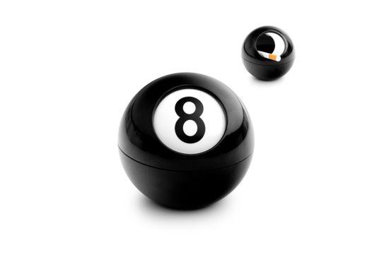Asbak 8 Ball zwart