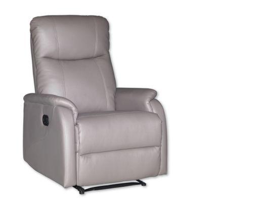Relaxzetel Kraft lederlook grijs