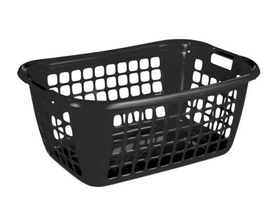 Wasmand Basic 65x45x27cm zwart